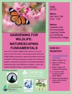 Gardening for Wildlife - Naturescaping Fundamentals @ Environmental Learning Center, Clackamas Community College | Oregon City | Oregon | United States